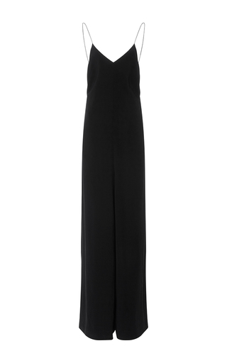 Medium rosetta getty black fluid cady camisole jumpsuit