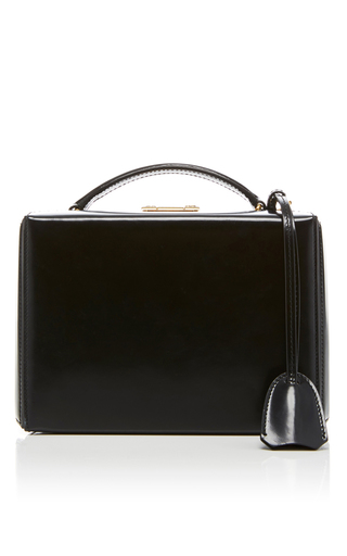 Medium mark cross black grace dover leather box bag