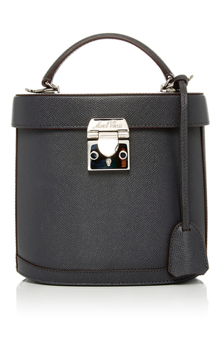 Medium mark cross dark grey benchley saffiano leather bag