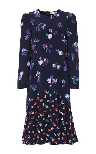 Medium rebecca taylor navy long sleeve print mix dress