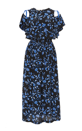 Medium rebecca taylor blue open shoulder kyoto dress