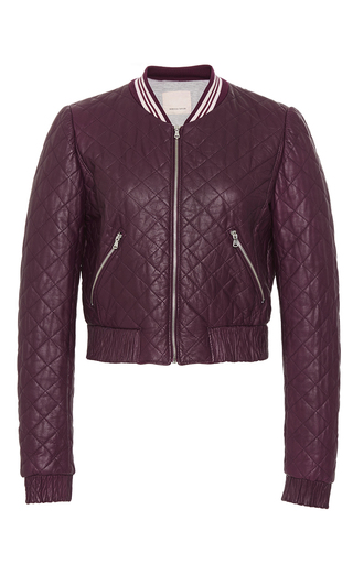 Medium rebecca taylor burgundy quilted leather jacket