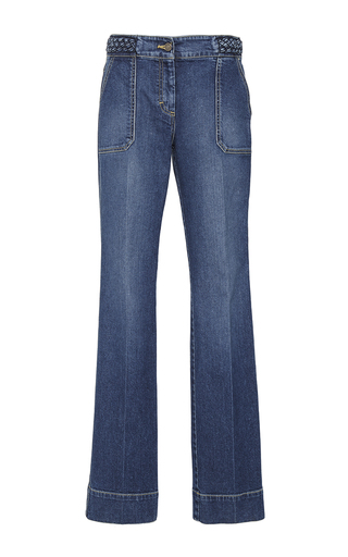 Medium rebecca taylor medium wash braided denim pant