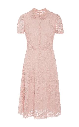 Medium red valentino pink floral macrame collared short dress