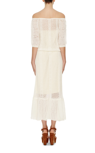 Off The Shoulder Peasant Dress by RED VALENTINO Now Available on Moda Operandi