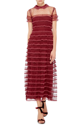 Embroidered Polka Dot Tulle Dress by RED VALENTINO Now Available on Moda Operandi