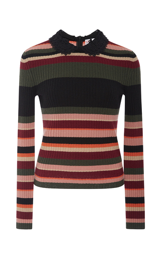 Medium red valentino stripe striped knit sweater
