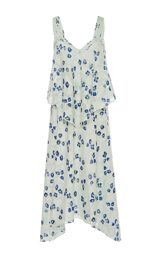 Medium derek lam 10 crosby print two tiered silk dress