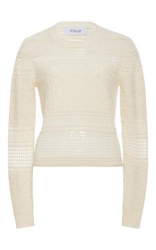 Medium derek lam 10 crosby neutral silk wool knit pullover