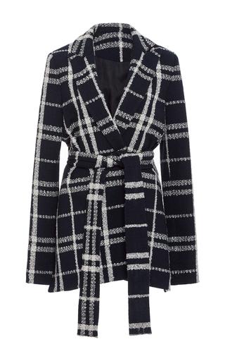 Medium derek lam 10 crosby plaid checked wrap jacket
