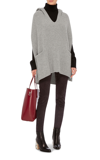 Cashmere Wool Ribbed Poncho by DEREK LAM 10 CROSBY Now Available on Moda Operandi