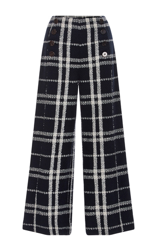 Medium derek lam 10 crosby plaid wide legged sailor pants