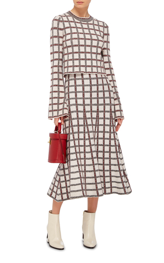 Flared Checkered Skirt by DEREK LAM 10 CROSBY Now Available on Moda Operandi