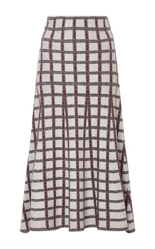 Medium derek lam 10 crosby multi flared checkered skirt