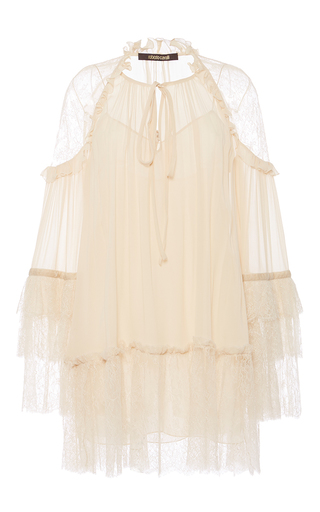 Medium roberto cavalli ivory ivory georgette dress
