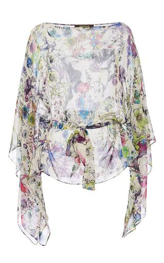 Medium roberto cavalli floral floral printed silk blouse