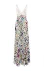 White Multi Astro Garden Georgette Dress by ROBERTO CAVALLI Now Available on Moda Operandi