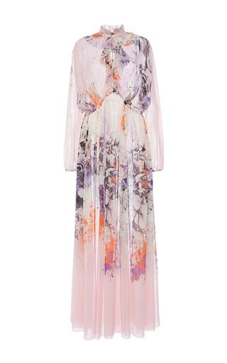 Medium roberto cavalli floral floral silk chiffon dress