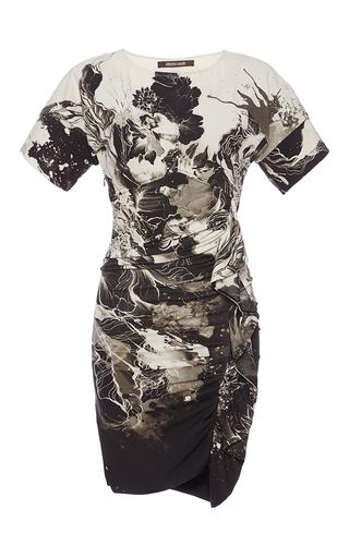 Medium roberto cavalli black black roman viscose stitch dress