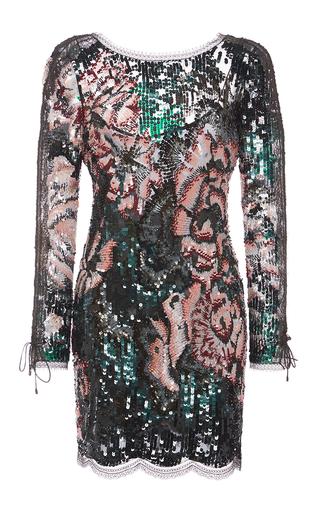 Medium roberto cavalli dark green military green lace patchwork dress