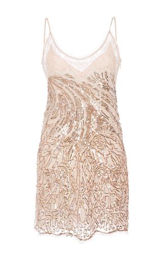 Medium roberto cavalli light pink pink and gold zebra sequins and strass dress
