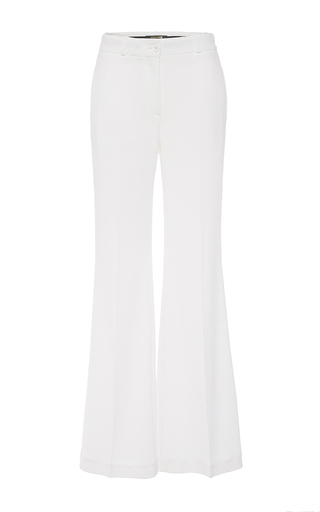 Medium roberto cavalli white flared trousers
