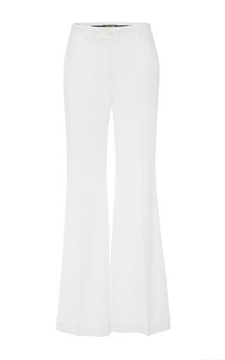 Medium roberto cavalli white flared trousers