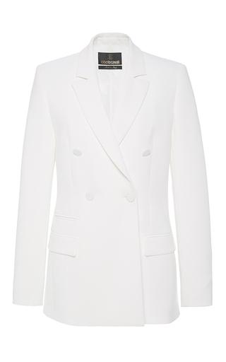 Medium roberto cavalli white double breasted jacket