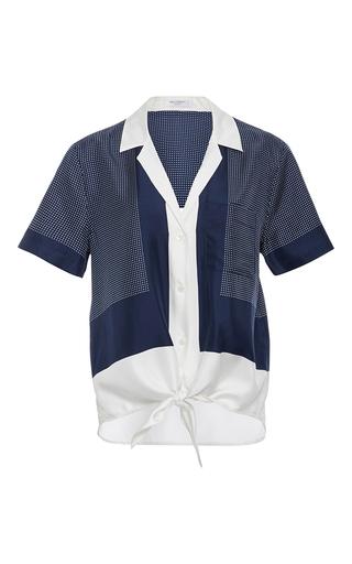 Medium equipment navy keira silk tie shirt
