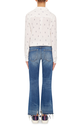 Anchor Printed Silk Shirt by EQUIPMENT Now Available on Moda Operandi