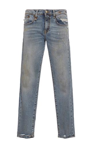 Medium r13 denim light wash alison cropped straight legged jeans