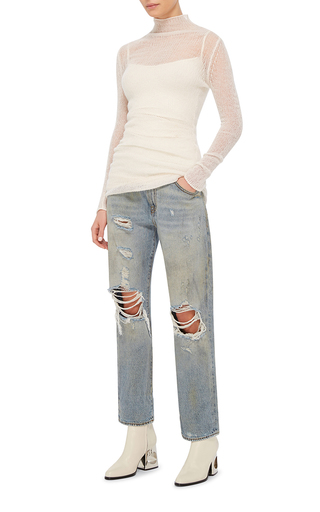 Catherine Distressed Knee Boyfriend Jeans by R13 Now Available on Moda Operandi