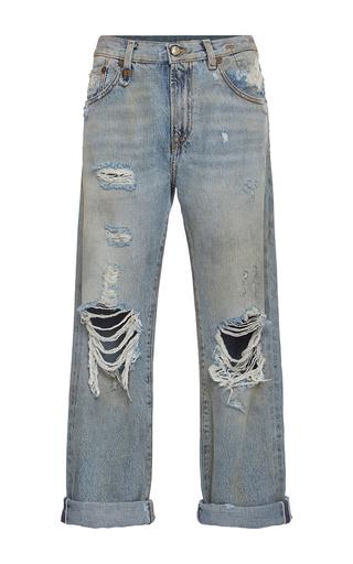 Medium r13 denim light wash catherine distressed knee boyfriend jeans