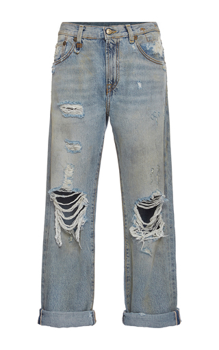 Medium r13 denim light wash catherine distressed knee boyfriend jeans