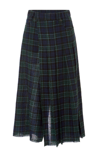 Medium r13 denim plaid plaid kilt culottes