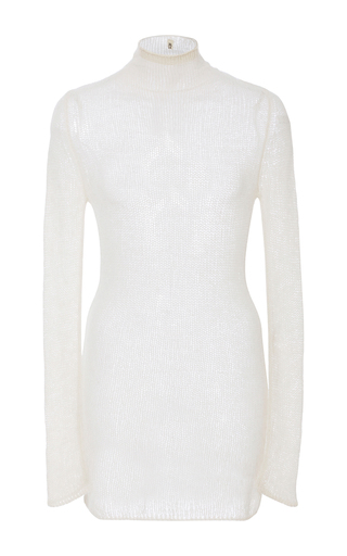 Medium r13 denim white sheer cashmere sweater