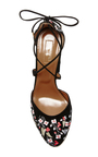 Karlie Embroidered Suede Pumps by AQUAZZURA Now Available on Moda Operandi