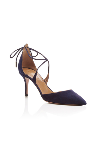 Matilde Suede Pumps by AQUAZZURA Now Available on Moda Operandi