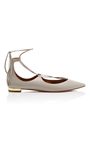 Christy Lace Up Flats by AQUAZZURA Now Available on Moda Operandi