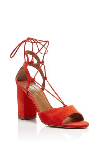 Medium aquazzura red austin suede sandals