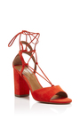 Austin Suede Sandals by AQUAZZURA Now Available on Moda Operandi