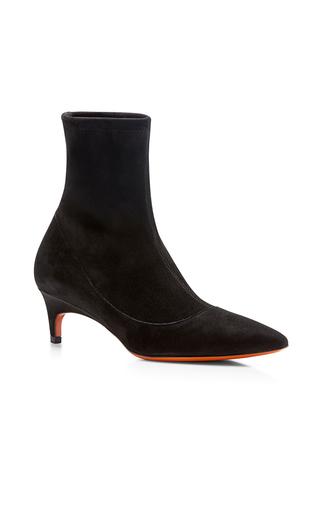 Medium santoni black suede ankle boot