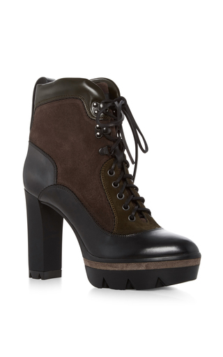 Medium santoni black heeled hiker boots