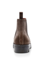 Mink Suede Chelsea Boots by SANTONI Now Available on Moda Operandi