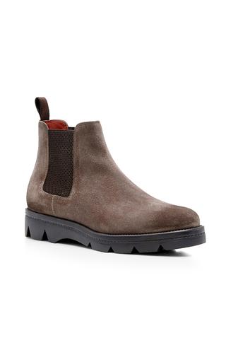 Medium santoni brown mink suede chelsea boots