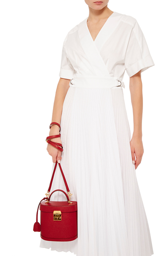 Benchley In Flame Saffiano Leather by MARK CROSS Now Available on Moda Operandi