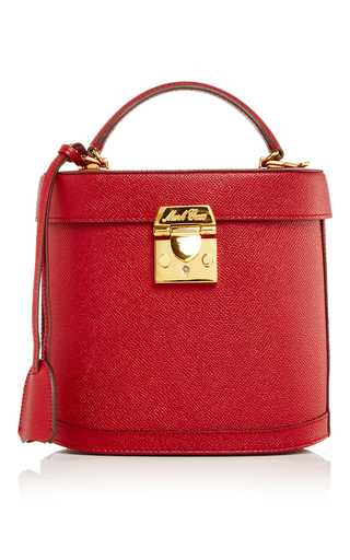 Medium mark cross red benchley in flame saffiano leather