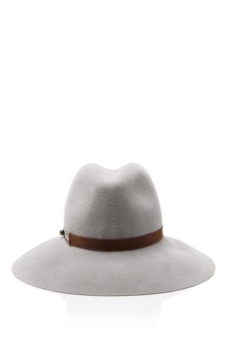 Medium eugenia kim light grey farrah wool hat