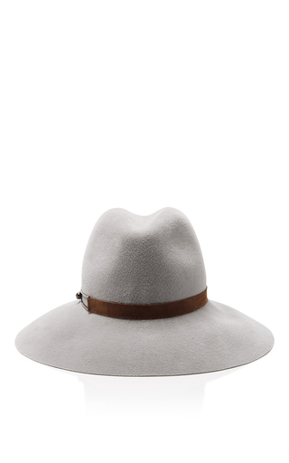 Medium eugenia kim light grey farrah wool hat