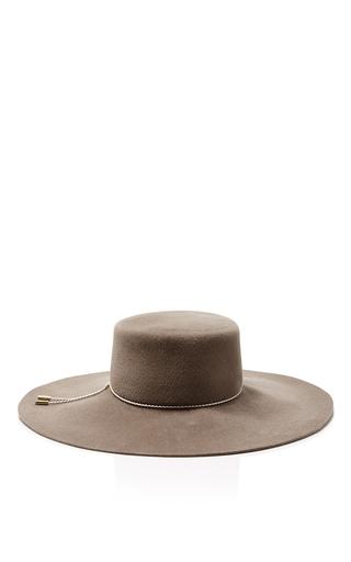 Medium eugenia kim dark grey loulou boater hat